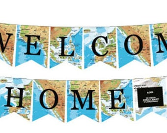 Missionary Banner: Welcome Home Map Flags (2 yds)