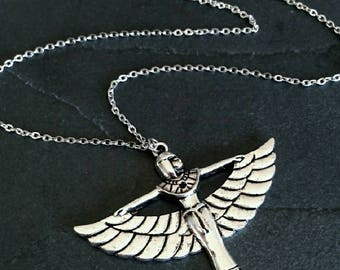 Ancient Egyptian Goddess Maat  charm necklace