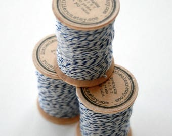 25% Off Summer Sale Packaging Twine - 30 Yards on Wooden Spool - Navy