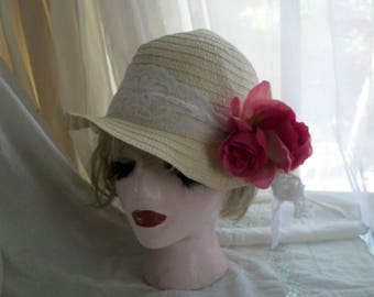 1920s Style Flapper Cloche Orig Design One Size One of a Kind Unique