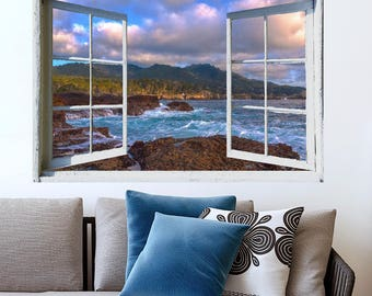 PRINT FILE-open window view- Point Lobos, California- easy, do it yourself wall art