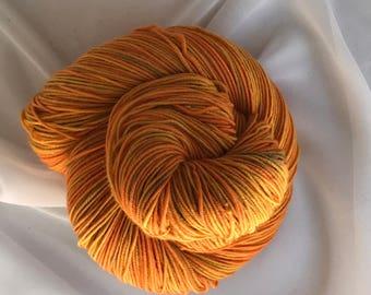 "360 yds Hand Dyed Merino 100g Sport Weight Yarn  - ""Maize"""