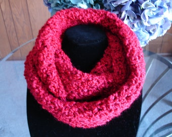 Red Infinity Cowl Scarf
