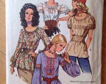 Vintage Simplicity 9313 Misses' Blouses • size 12