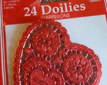 Doiles heart shaped