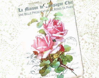 Tags, Roses, Vintage Style, Gift Tags, Party Favors, French Roses