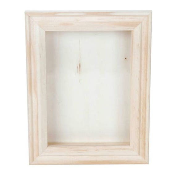Unfinished Wooden Shadow Box Frame Display Box 5 x