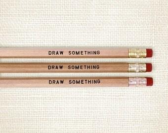Pencil Set, Artist Gift - Draw Something
