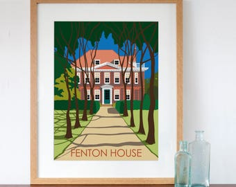 Fenton House London Retro Style Art Print