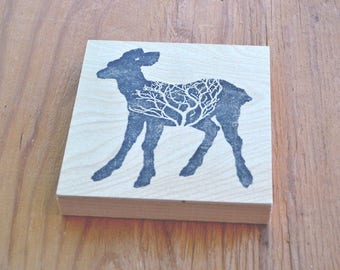 "modern rustic art: ""branching out,"" printed birch wood panel"