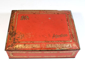 Vintage Johnston's Chocolates Tin - 3-1/3 Pounds