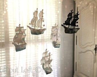 Sailing Ship in Papier Maché