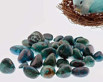 Polished Chrysocolla Tumbled Small - Stone for Self Power