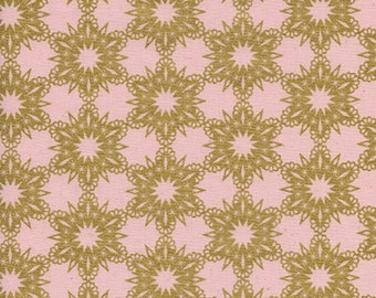 Cotton + Steel - Noel Collection - Gold Flakes in Pink Metallic