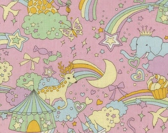 Kokka Japanese Textiles - DOUBLE GAUZE Candy Circus in Pink