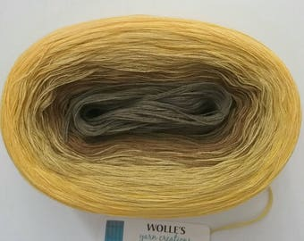 YARROW II -- 150 gr/720 yards -- Color Changing Cotton yarn --  Fingering Weight