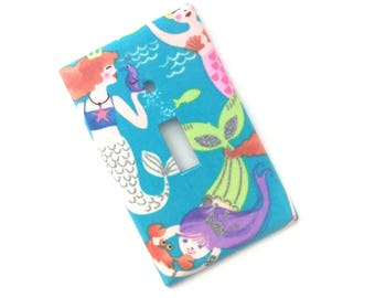 Mermaids Glitter Light Switch Plate Cover