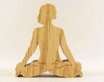 Lotus Yoga Pose Female Figurine - Padmasana