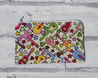 Coin purse pouch - Bright music guitars