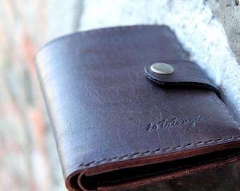 """Mens Leather Wallet - """"Dark brown"""""""