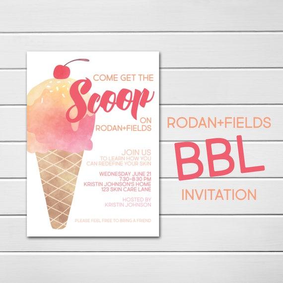Rodan and Fields Invitation Custom Party Invite BBL Personalized