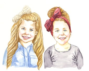 Custom Portrait: 11x14 Multi Person Watercolor