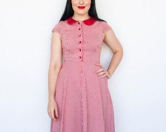 Candy Stripe Pin up dress