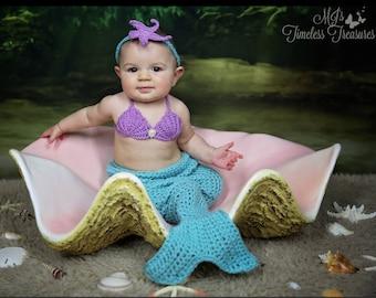 Photo Prop - Mermaid Tail - Mermaid Blanket - Crochet Mermaid Outfit - Crochet Mermaid Tail - Mermaid Outfit - Mermaid Tail Outfit