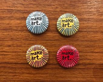 Make Art. set of 4 pins