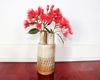 Two headed handmade ceramic vase