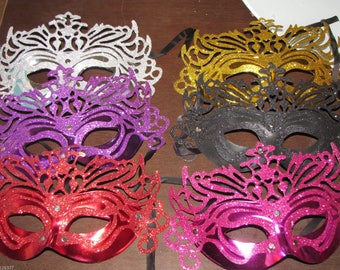 10 piece lot of Mask mardi gras  masks masquerade party favors centerpieces wedding  sweet 16 quinceanera Fast Free Shipping