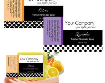 6 Soap Labels, Customized Labels, Premade Soap Labels, Packaging Labels, Lotion Labels, Printable Labels, print from home labels