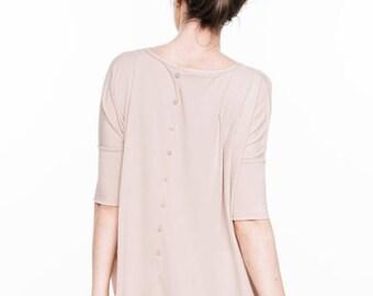 SALE - Summer dress | Nude dress | One size dress | Back button dress | LeMuse summer dress