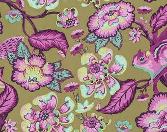 Tula Pink for Free Spirit - Chipper - Chipmunk - Raspberry - Fabric by the Yard PWTP078-RASP