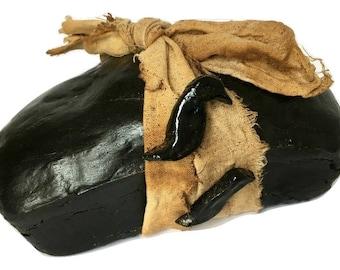 Primitive Black Crow Bread Loaf - Prim Table Decor - Prim Kitchen Decor