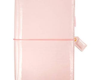 Patent Petal Pink Travelers Webster's Pages Color Crush Travelers Planner Journal (IN STOCK) Free Washi Tape with this order (TJ001-PTP)