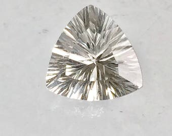 Danburite 9mm Trillion Concave Cut 2.15ct Natural Untreated