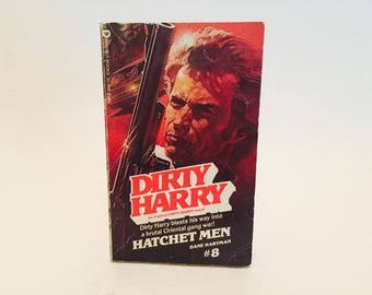 Vintage Pop Culture Book Dirty Harry #8 Hatchet Men by Dane Hartman 1982 Paperback