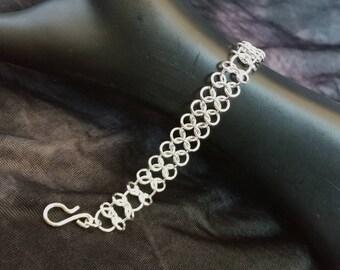 Argentium Sterling Silver Centipede Bracelet