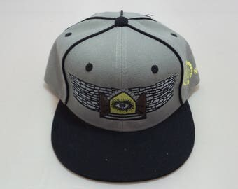 Snapback Flat-Brim Hat - Doors of Perception (One-of-a-kind)