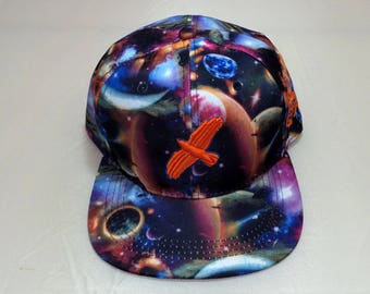 Snapback Flat-Brim Hat - Fly Bird (One-of-a-kind)