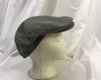 Vintage Gray fleece newsboy Fleece Hat