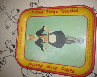 Vintage Beer Tray/Valley Forge Beer/Adam Scheidt Brewing Company Ad Tray