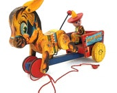 Bucky Burro 1955 Fisher Price Pull Toy
