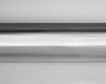 Abstract Beach Photography, Seascape, Ocean Art, long-exposure, black and white, limited edition fine art print, large print, Pelagic
