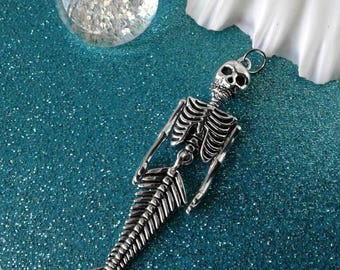 Mermaid Skeleton Pendant