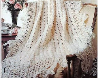Crochet Pattern PDF - Lacy Victorian Afghan/Blanket/Shawl