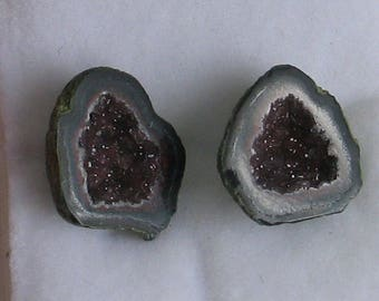 New Mexican Tobasco Geode Pair Tiny 15mm