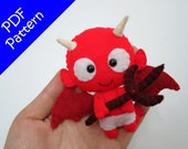 Red Devil Plush PDF Pattern -Instant Digital Download