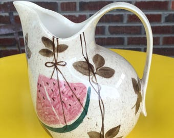 Red Wing Water Pitcher Tampico Pattern, Mid Century Dinnerware, Mod China